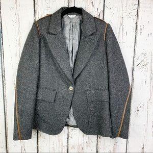 Søsken Elyse One Button Tweed Wool Blazer